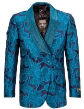 Wedding Blue Tuxedo Jacket Blazer Sportcoat