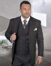 Plaid - Checkered Suit Grey Single Breasted Jacket Regular