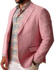 Linen Blazer by Inserch / Merc - Summer Raspberry