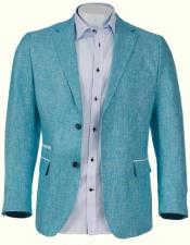 Linen Blazer by Inserch / Merc - Aqua