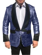 Nardoni Brand Menss Shawl Collar Fancy Sharkskin Chinese Style