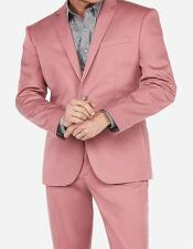 Gold ~ Pink 2 Button Suit