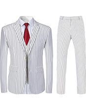 White and Black Pinstripe