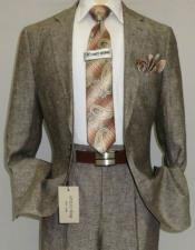 Brown ~ Taupe Color Linen Suit