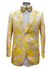 and Gold ~ Yellow Prom Blazer > Tuxedo Dinner