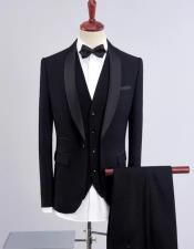 Wedding ~ Prom Shawl Collar Vested 3 Pieces Tuxedos