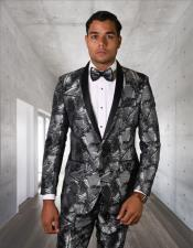 Button Ultra Slim Fit Prom Suit / Wedding Suit