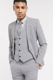 Extra Slim Fit Suit Mens Gray