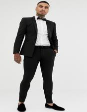 Extra Slim Fit Suit Black Shorter