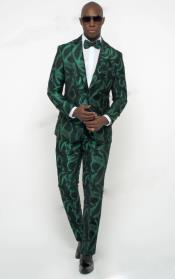Green Tuxedo ~ Olive Green Tux Jacket and Pants