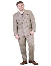 Adams Suits Mens 2 Piece Double Breasted Peak Lapel
