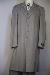 Gray Notch Lapel Zoot Suit