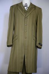 Olive Single Breasted Zoot Suit