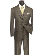 And Tall Plaid Color Mens Suit