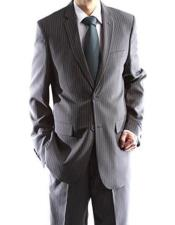 Charcoal Big And Tall Notch Lapel