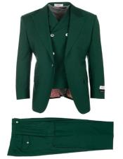 Green ~ Hunter Green 1940s Mens Suits Style Pleated