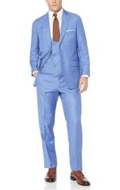 Mens Blue 57% Polyester 35% Viscose