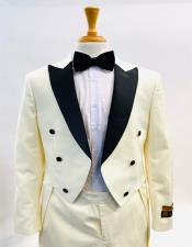 Men Steampunk Suit Outfit Costumes Cream