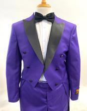 Men Steampunk Suit Outfit Costumes Purple