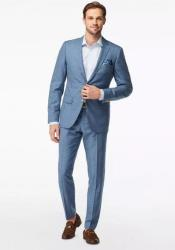 Blue ~ Light Blue Wool Suit