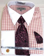 Houndstooth Colorful Mens Dress Shirt