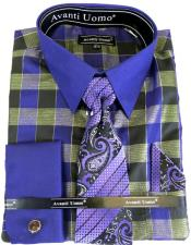 Purple Colorful Mens Dress Shirt