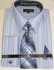 Blue Colorful Mens Dress Shirt