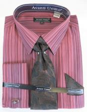 Black Taupe Colorful Mens Dress Shirt
