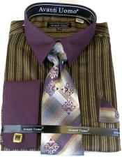 Burgundy Colorful Mens Dress Shirt
