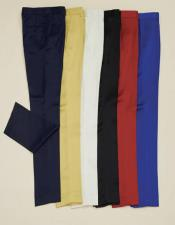 Slim Fit Shiny Pants with Stretch