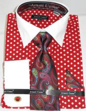 Polka Dot Red Dress shirt