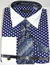 Polka Dot Blue Shirt