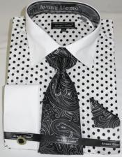 Black Colorful Mens Dress Shirt