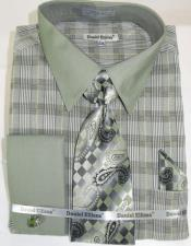 Olive Colorful Mens Dress Shirt