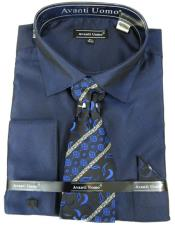 Navy Colorful Mens Dress Shirt