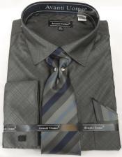 Black Charcoal Colorful Mens Dress Shirt