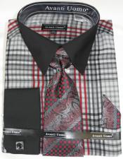 Grey Colorful Mens Dress Shirt