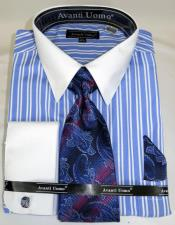 Stripe Colorful Mens Dress Shirt