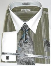 Green Colorful Mens Dress Shirt
