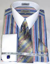 Blue Pinstripe Pattern - White Collared