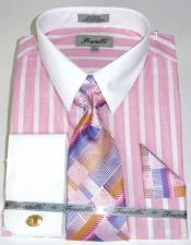 Pink Colorful Pinstripe Pattern - White