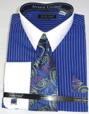 Pencil Stripe Colorful Mens Dress Shirt