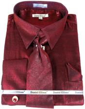 Colorful Mens Sateen Dress Shirt