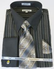 Taupe Colorful Mens Dress Shirt