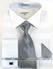 White Colorful Dress Shirt