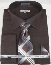 Chocolate Colorful Mens Dress Shirt