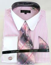 Banker Stripe Colorful Mens Dress Shirt