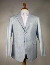 Light Gray 2 Button Peak Lapel One Chest Pocket