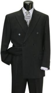 Funeral Black Double Breasted Style Men