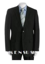 Mens Solid Black Suit for Funeral